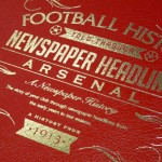 Personalised A3 Leather Cover Football Newspaper Book