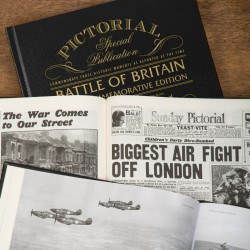 Personalised Battle of Britain 75th Anniversary Pictorial Edition Newspaper Book